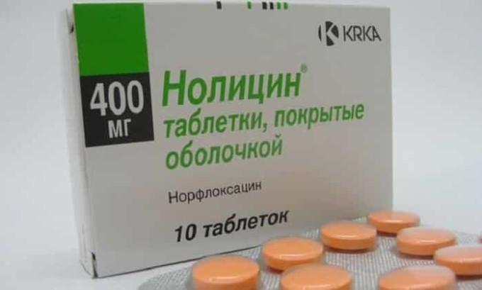 При лечении цистита используется антибиотик Нолицин