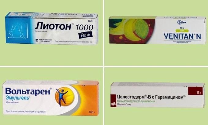 Чтобы избежать образования тромбов следует использовать мази на основе гепарина