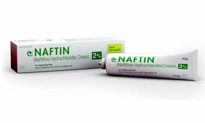 В случаи, когда болезнь запущенная или лечение не дает положительного результата, врач может назначить применение более сильных лекарств, например, Нафтифин (Нафтин)