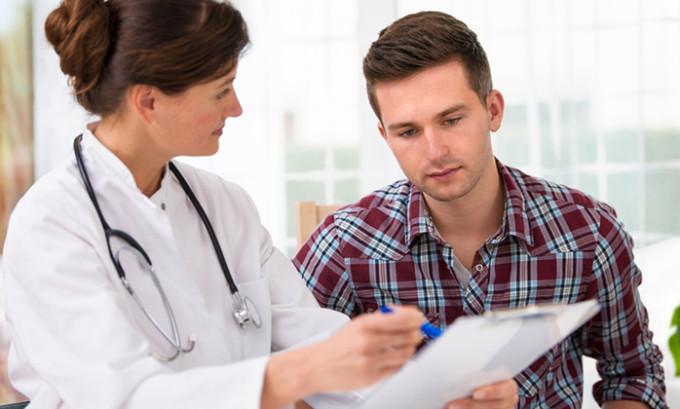 Предварительная диагностика заболевания осуществляется уже на приеме врача