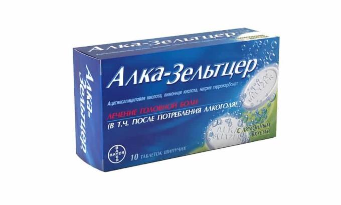 Для облегчения похмельного синдрома применяют Алка-Зельтцер