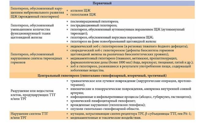 Описание гипотериоза
