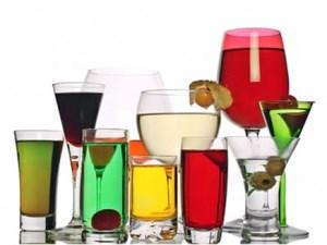 Разные виды алкоголя