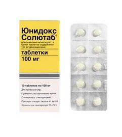 Таблетки Юнидокс Солютаб