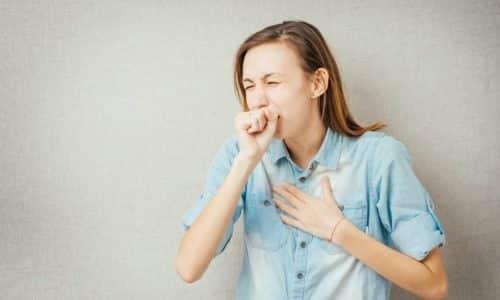 Симптомом поздней стадии аденомы является кашель