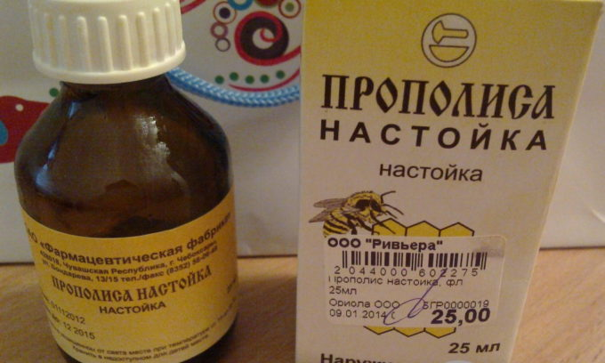 Для купирования симптомов панкреатита применяется настойка прополиса