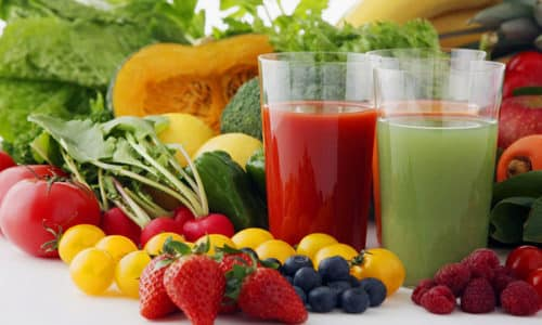 Диета при цистите должна включать в себя фрукты, овощи, соки и каши